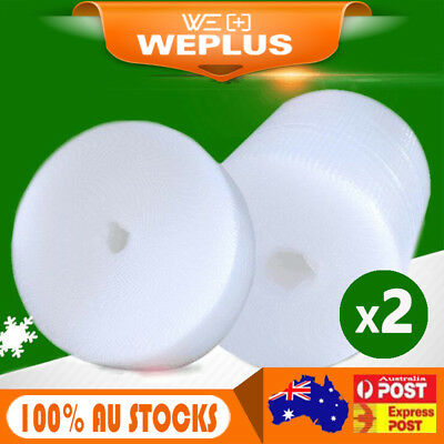 2 Roll 385mm x 100m Bubble Cushioning  Wrap Roll P10 10mm  Bubbles Clear Wrap