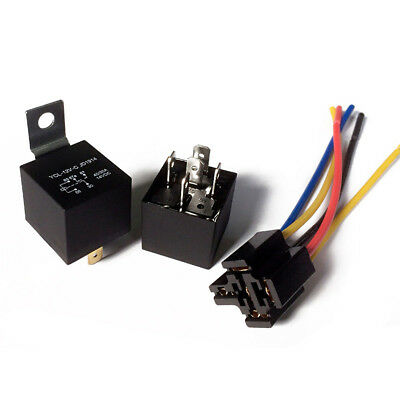 1PC DC 12V Car SPDT Automotive Relay 5 Pin 5 Wires Harness Socket Accessories