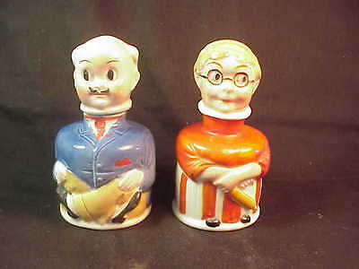 Genuine Original Carter's Ma and Pa Figural Inkwell Bottles