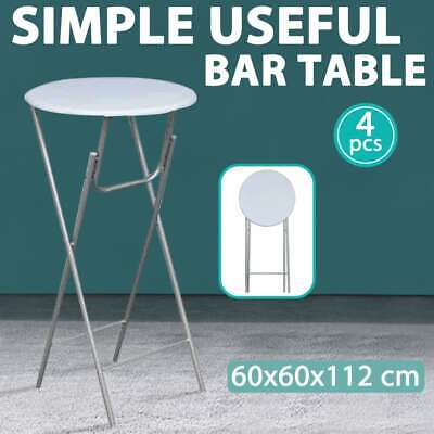 vidaXL 4x Bar Tables with MDF Tabletop White Kitchen Dining Camping Furniture