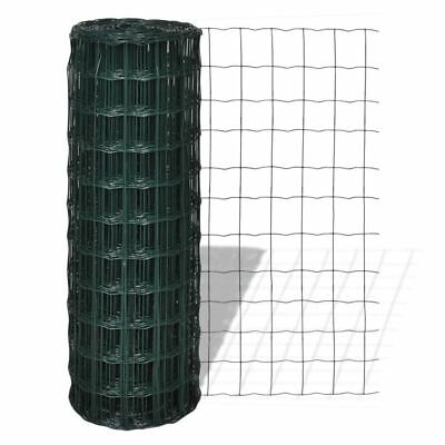Fence Panel 25x0.8m Steel Mesh Landscaping Frame Tree Guards Garden Patio Green