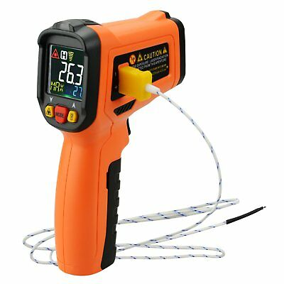 Digital Display Infrared IR Laser Thermometer K-Type Thermocouple -58~1472°F