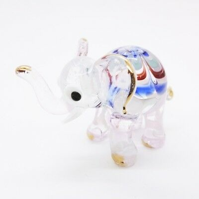 Elephant Fancy Blown Glass Hand Blowing Art gifts Figurine Animals Decor Cute