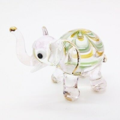 Elephant Fancy Blown Glass Hand Blowing Art gifts Figurine Animals Decor Cute 2