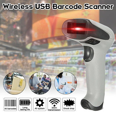 Bluetooth Wireless Laser Barcode Scanner Handheld Scan Bar Code Reader USB UK