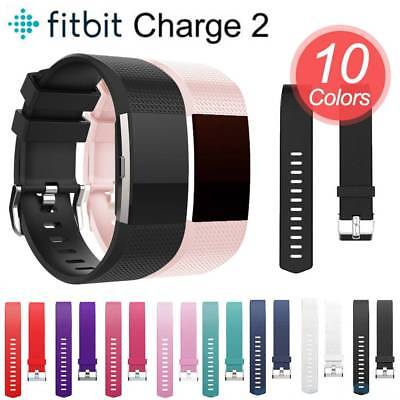 Sport Soft Silicone Strap Replacement Spare Wrist Watch Band For Fitbit Charge 2