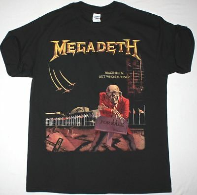 Megadeth Peace Sells But Who's Buying Black T Shirt Dave Mustaine Metallica