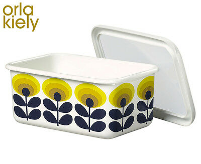 Orla Kiely 70s Oval Flower Medium Storage Container - Yellow