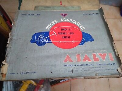 Catalogue 1962 A. Salvi Simca 9 Aronde 1300 Ariane Pieces Adaptables