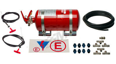 Lifeline FIA Zero2000 4L Mechanical Firel Extinguisher Kit Plumbed In System