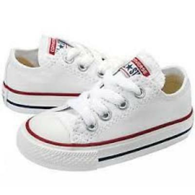 Converse Chuck Taylor All Star Ox Optical White Infant/Toddler Shoes 7J256