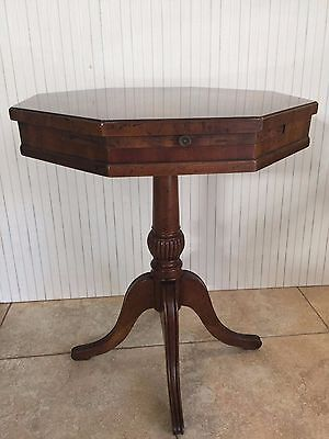"""Vintage Heritage Furniture Hexagon Side Table, 24"""" Tall x 21 1/2"""" Widest, 17 Lbs"""