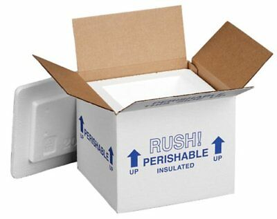 """Polar Tech 205C Thermo Chill Insulated Carton with Foam Shipper Small 6"""" Leng..."""