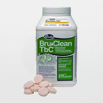 Brulin® Bru-Clean TbC Disinfectant Cleaner -270 Tablet Tub(EXPIRED 02/17)
