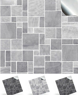 """6"""" Stone Brick Effect Tile Stickers Decal DIY Transfers Kitchen + Bathroom TP31"""