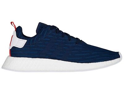 new styles 36ae3 49355 Adidas NMD R2 Primeknit Mens BB2952 Collegiate Navy Boost Running Shoes  Size 14