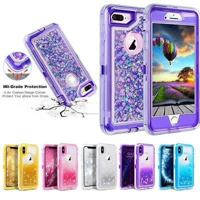 Shockproof Quicksand Glitter Dynamic Liquid Case Cover For iPhone X 7 8 6S Plus
