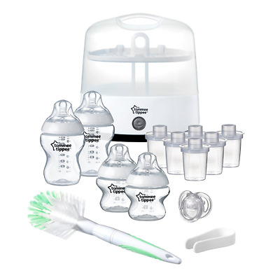 Tommee Tippee Closer to Nature Electric Steriliser Starter Set - BPA free