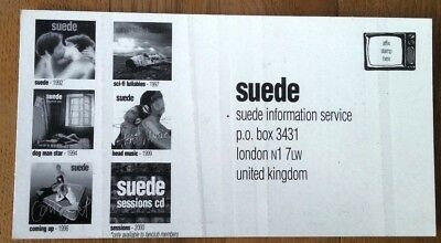 SUEDE 'information' PROMO postcard 7x4 inches
