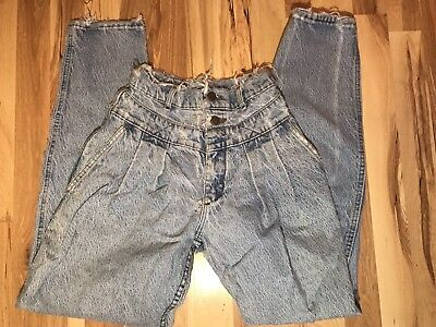 Vintage Lee 80s Distressed High Waisted Jeans