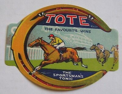 Great Vintage Bottle  Advertising Label,  Tote, The Sportsman's Tonic
