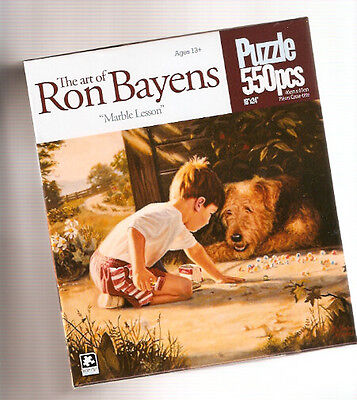 Airedale Terrier Boy Marble Lesson Puzzle 550 piece Earth Friendly