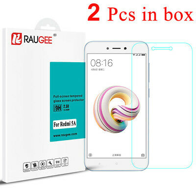 2PCS 9H Tempered Glass Screen Protector Film Guard For Xiaomi Redmi 5A--RAUGEE