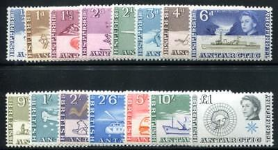 British Antarctic Territory (Bat) 1-15 Mint Lh Ships