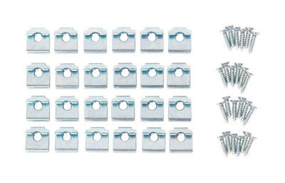 Closet Culture Steel Shelf Clips 48 piece WOOD SHELF CLIPS