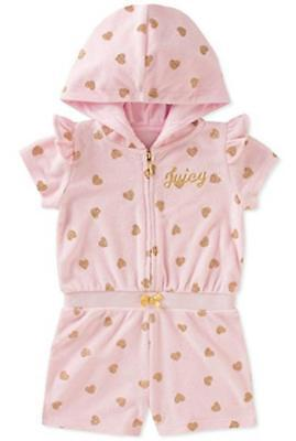 Juicy Couture Girls Pink Romper Size 2T 3T 4T 4 5 6 6X $70