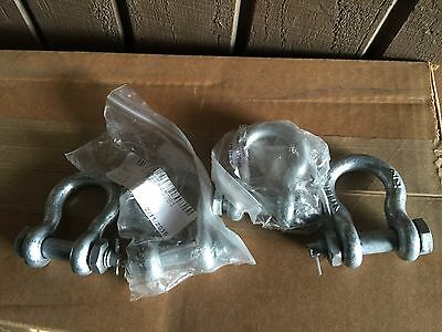 4 New Military Surplus 7/16 Shackle 4030-01-564-5781 Free Shipping