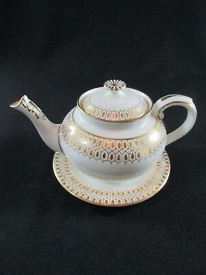 Early 20th Century George Jones Cresent China Teapot & Stand