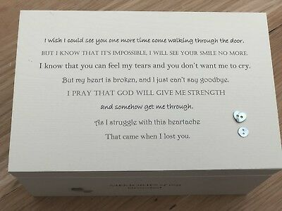 Personalised LARGE Box In Memory Of A Loved One GRANDAD Or Any Name Shabby Chic