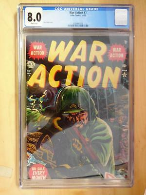 War Action  7    CGC Graded 8.0   White Pages    SUPER HIGH GRADE COPY