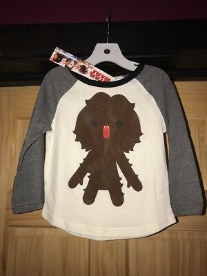 Gymboree boys Size 2t Star Wars Chewbacca Long Sleeve shirt NWT