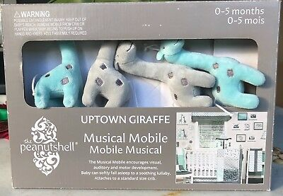 The Peanut Shell Uptown Giraffe Musical Mobile - NEW (OPEN BOX)