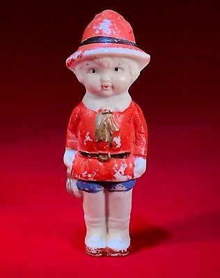 Vintage - Bisque Penny Doll - Frozen Charlotte - Girl In Red - JAPAN