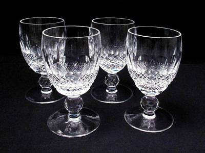 4x VINTAGE WATERFORD IRELAND CUT CRYSTAL COLLEEN 4oz WHITE WINE GLASSES - SIGNED