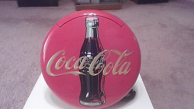 "Vintage (1995) Coca Cola sign round lighted wall hanging telephone.12"". Works."