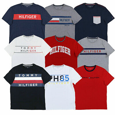 debe428c Tommy Hilfiger T-shirt Mens Crew Neck Graphic Tee Short Sleeve Casual New  Nwt