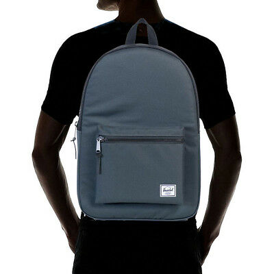 7f5bee2f82 Herschel Supply Co. Men s Settlement 600D Poly Backpack Bag Dark Shadow  Black Cl