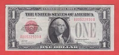 """$1 1928 Red Seal """"XF+"""" FUNNYBACK United States Note!"""
