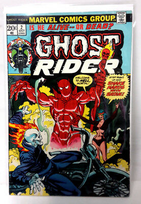 #2 GHOST RIDER 1970s Marvel Comic Book-  Fine/Very Fine (GR-2)