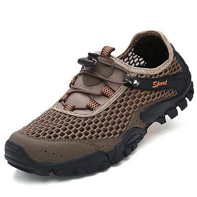 Mens Fall Fashion Outdoor Hiking Shoes Athletic Breathable Non Slip Trail Shoes