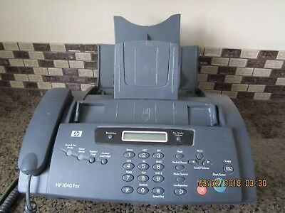 HP 1040 Fax Machine Manual & Cords - Telephone, Scan & Fax, Copy & Print