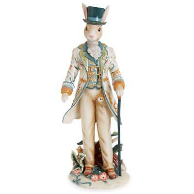 Fitz and Floyd Dapper Rabbit Standing Male Figurine. 20 in. H. New in Box.