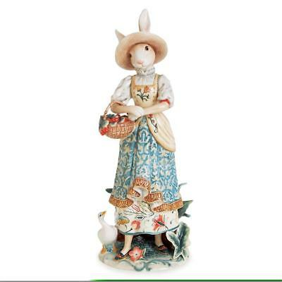 Fitz and Floyd Dapper Rabbit Female Standing Figurine. 20 in. H. New in Box.