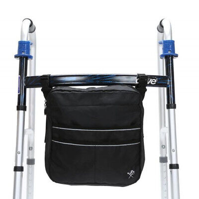Black Wheel Chair Storage Pack Mobility Rollator Accessory Scooter Walker Bag