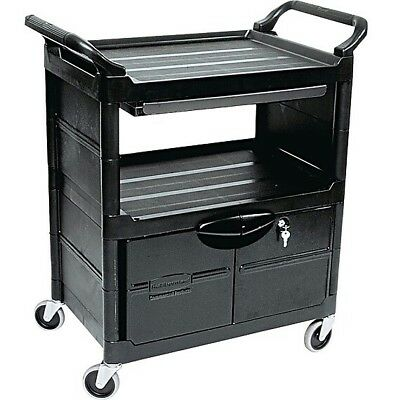 Rubbermaid Utility Cart with Locking Doors- Free Shipping