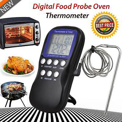 Digital Probe LCD Thermometer Temperature BBQ Cooking Meat Food Kitchen Over